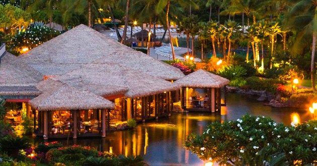 Tidepools Restaurant at the Grand Hyatt Kauai Resort And Spa in Koloa, Kauai