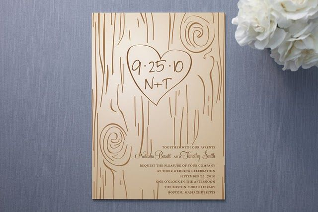 Natural wedding invitations...: Diy Wedding Invitations, Save The Date, Fall Carving, Tree Carving, Wedding Ideas, Weddings, Dream Wedding
