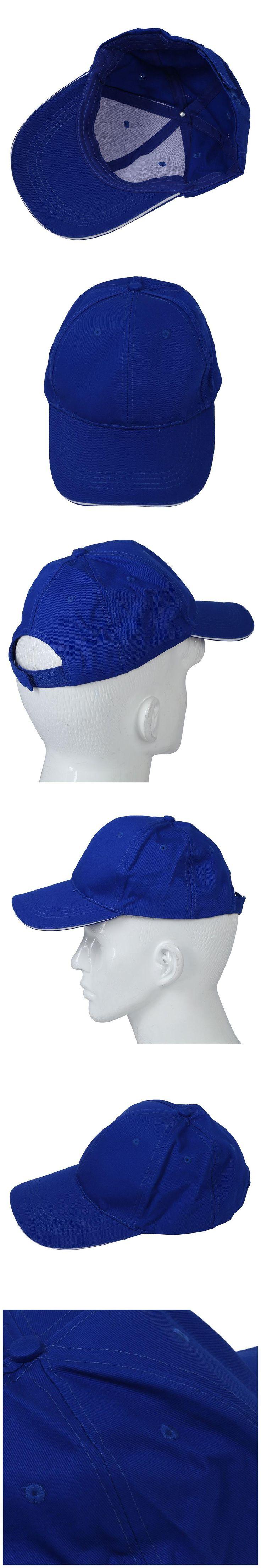 NEW Plain Baseball Cap Mens Ladies Adult Hat Summer-Deep blue