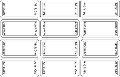 Printable Train Templates | Blank Tickets clip art - vector clip art online, royalty free & public ...