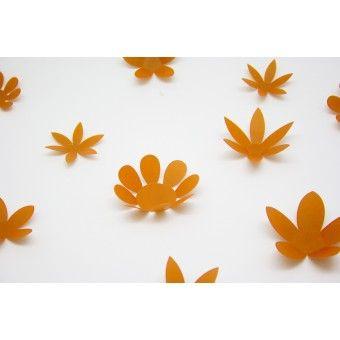 3D Narancs virág csomag : 3D matricák - KaticaMatrica.hu - A minőségi falmatrica és faltetoválás webáruház