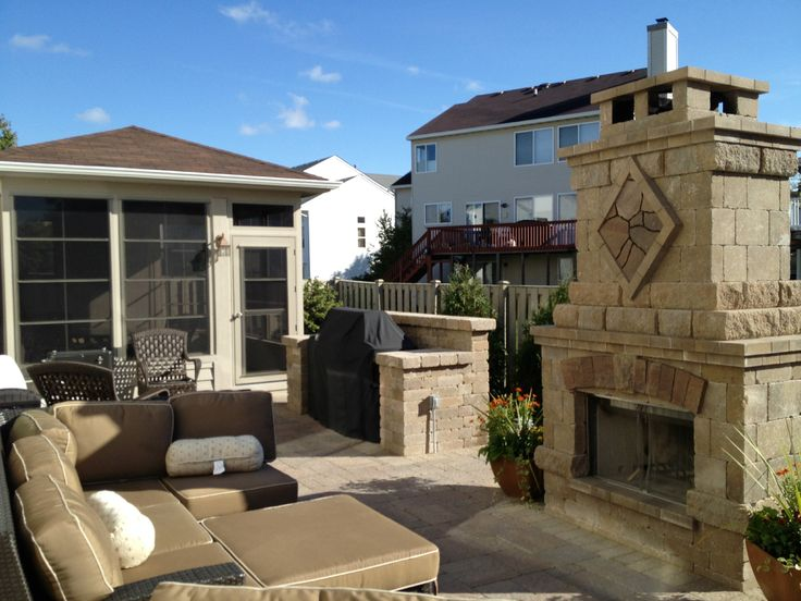 Screened Gazebo And Paver Patio Combination By Chicago Area Gazebo Builder