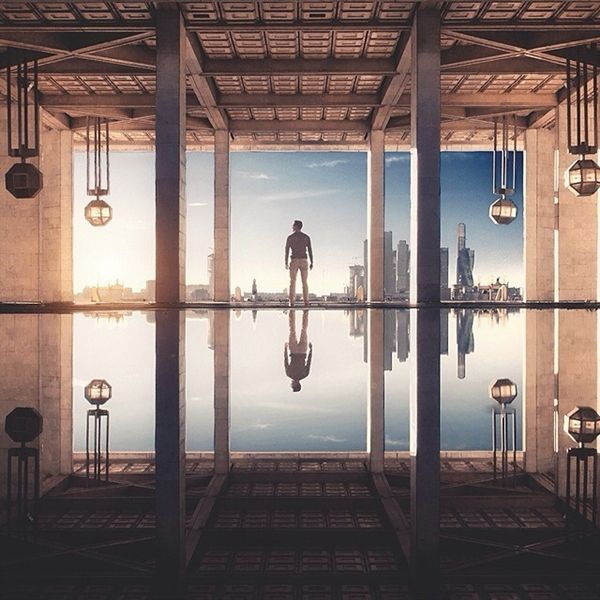 Sasha Levin Tracks Symmetry in Architecture Using People as Focal Points (1/12)