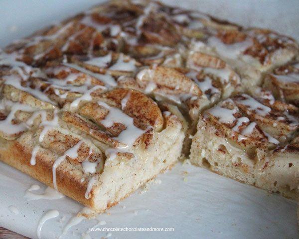 Apple kuchen with brown sugar