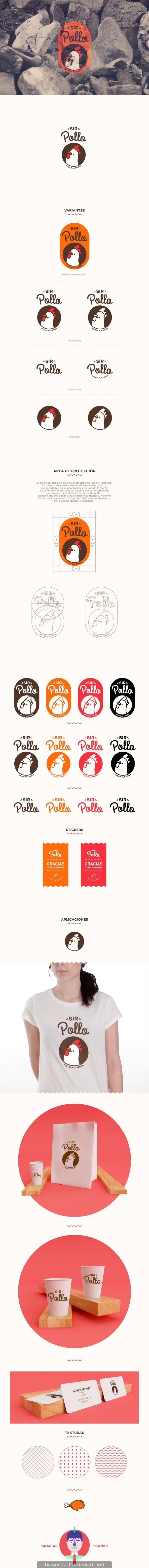 SIR POLLO by AARON MARTINEZ, via Behance has a cute logo on the packaging PD