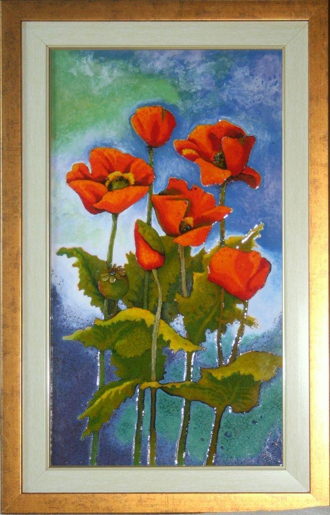 MAKI  obraz ceramiczny, majolika Danuta Rożnowska-Borys