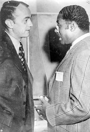 Superintendent Marcus Foster and Deputy Superintendent Robert Blackburn not long before their shooting. (Symbionese Liberation Army)