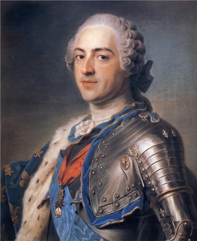 Ritratto di Luigi XV  Quentin de la Tour  Pastello