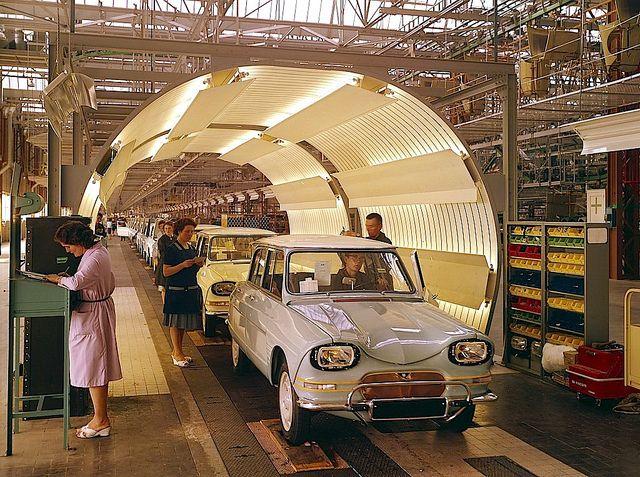 Citroën Ami 6 assembly line