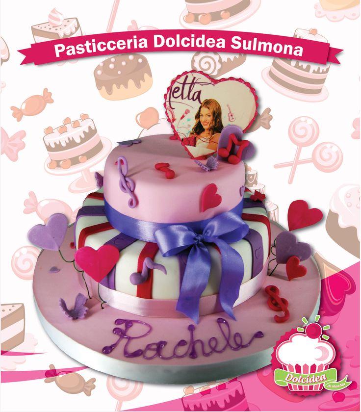 Per tutte le bimbe pazze per #Violetta abbiamo realizzato questa colorata delizia!   #BirthdayCake #Violetta #DisneyCake #TorteDisney #TortaCompleanno
