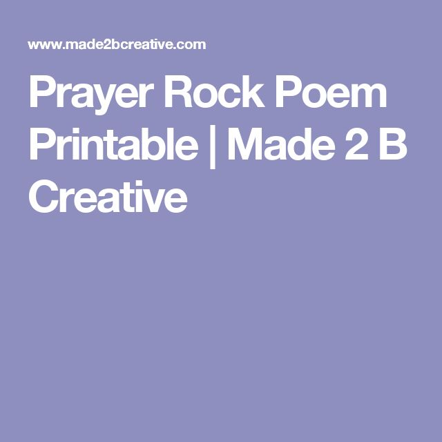 It's just an image of Delicate Prayer Rock Poem Printable