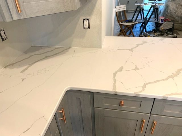 Beautiful Custom Made L Shaped Kitchen Countertop Made By Using