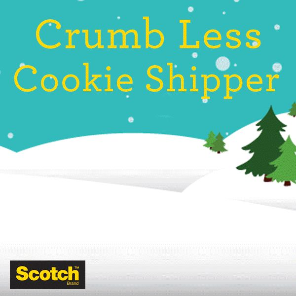 Baked goods like cookies can be tough to ship. Strong, durable Scotch Heavy Duty Shipping Packaging Tape is 40x times stronger to withstand rough handling.