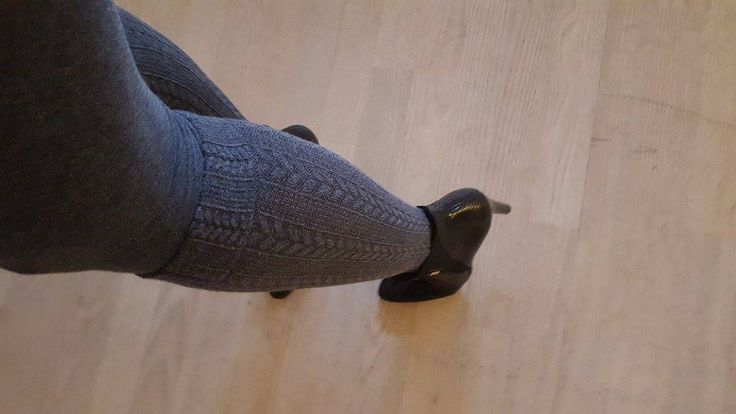 our Cable over the knee tights in grey or black