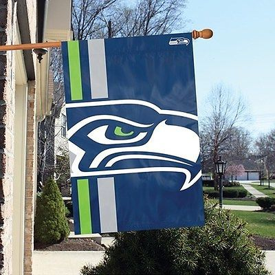 "NFL Bold Logo Banner Flag 24"" x 36"" 18 Teams. Bears,Cowboys,Packers &Seahawks[Seattle Seahawks]"