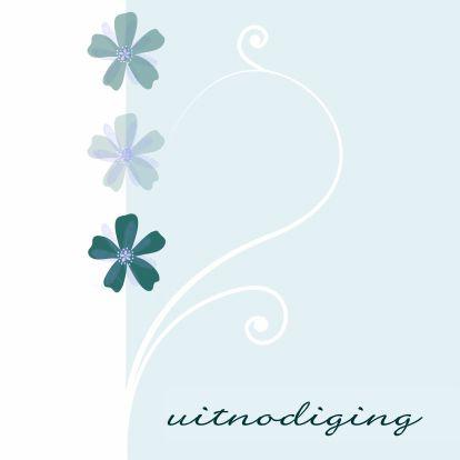 Leuke uitnodiging met bloemetjes - Uitnodigingen - Kaartje2go