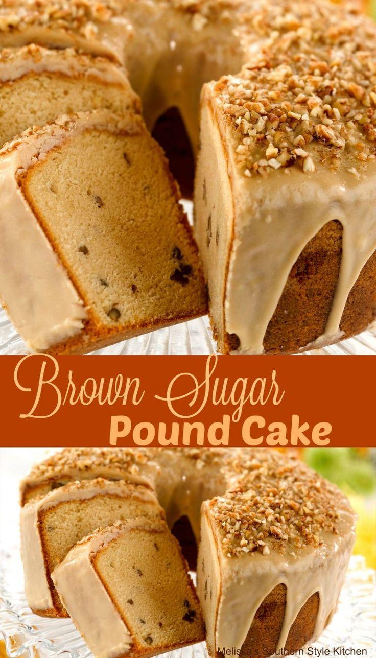 Brown Sugar Pound Cake #sponsored