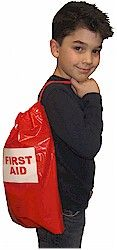 Perfect First aid Pouch to have while receiving First Aid Cadette Badge . For supplies go to MakingFriends.com