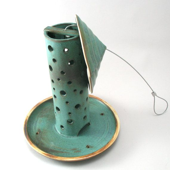 cylindrical bird feeder