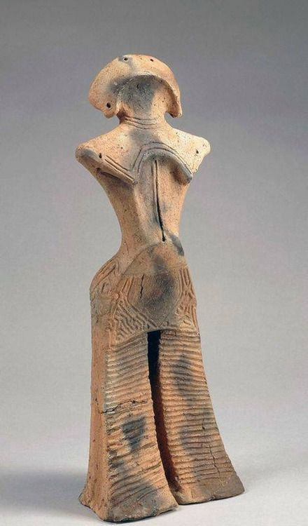 """Ceramic created by the Jomon people of ancient Japan, 14,000 - 300B.C. The earliest Japanese art bears no resemblance of what was to come later. The early Japanese ceramics were both striking andunprecedented. The following excerpt was written by the scholar Gina Barnes:""""Many prehistoric cultures around the world have produced ceramic representations of the human figure. Interestingly, the earliest ceramic figurines date to thePaleolithic(prior to 10,000 BC) in cultures not ha"""