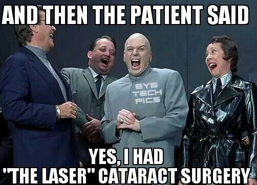 Wow! Lasers must have come a long way recently!