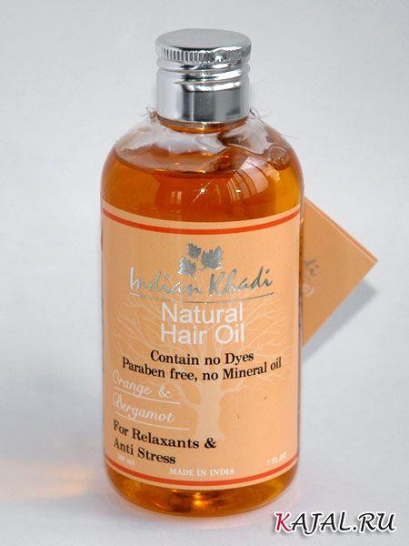 """Освежающее масло для волос с апельсином и бергамотом """"Indian Khadi"""""""
