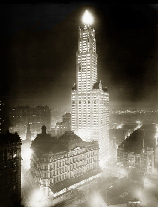 Woolworth Building at Night, April 24, 1913. Library of Congress