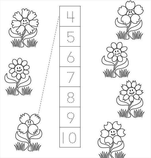 * Hoeveel bloemblaadjes tel je? Geef alle bloemen een andere kleur!