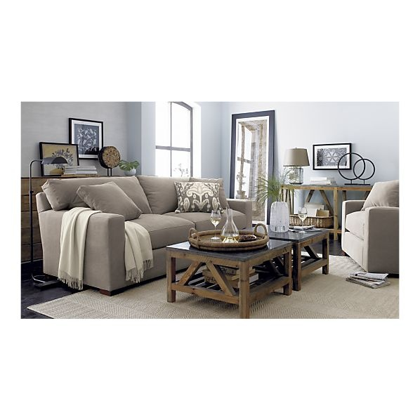 Axis sofa in sofas crate and barrel living room pinterest square coffee tables crates for Crate and barrel living room