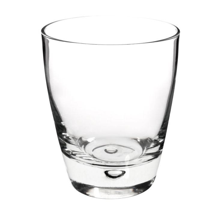 Vaso ancho de cristal LUNA   - Vendido por 6