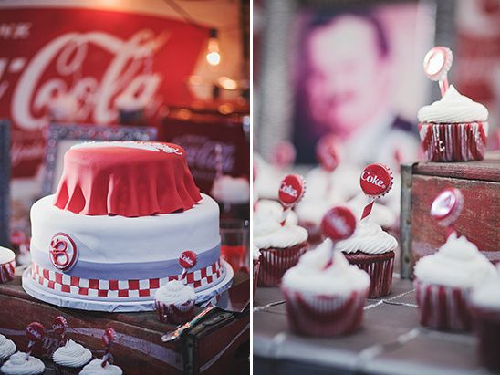 coke wedding cake @weddingchicks