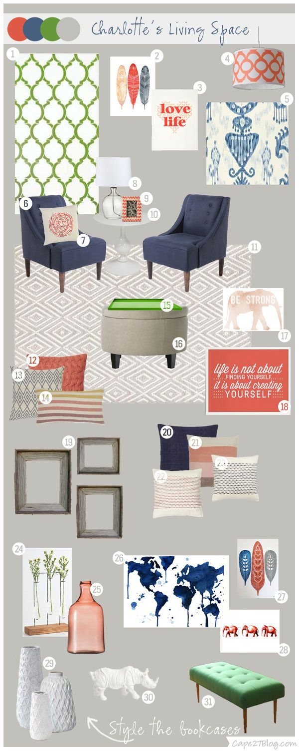 I Love This Mood Board From Cape27 Blog The Color Combos Would Be Great For