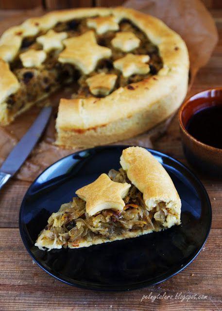 Tarta z kapustą i grzybami (drożdżowa)