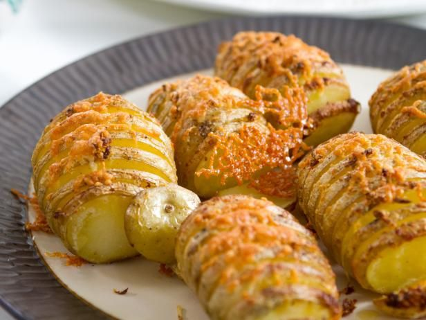 Get Cheesy Hasselback Potatoes Recipe from Food Network
