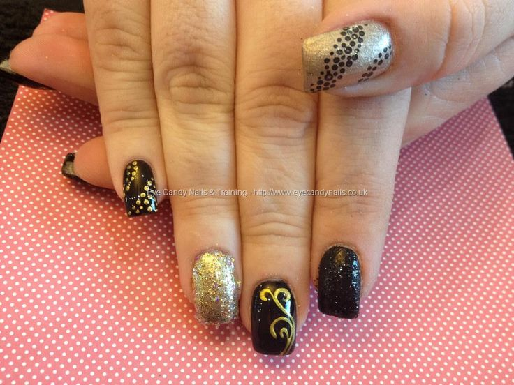 473 best nicola senior my lovely nail art eye candy salon eye candy nails training acrylic nails with black and gold nail art by nicola senior on 7 february 2014 at prinsesfo Image collections