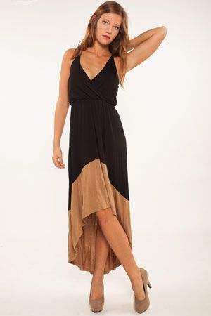 love it black tan dress women's fashion