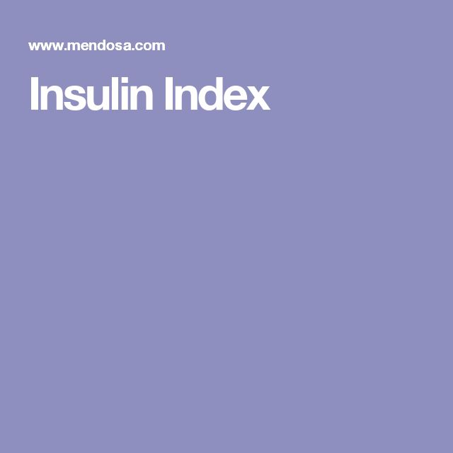 Insulin Index