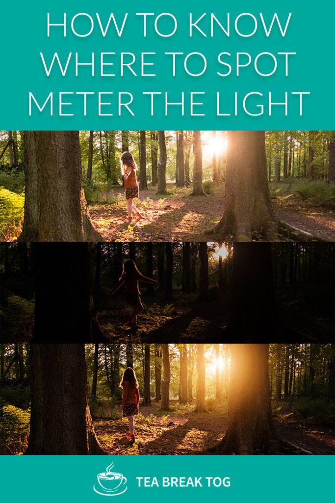 A video tutorial about how to know where to spot meter the light in manual mode