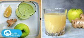 El jugo de limpieza de colon: La manzana, el jengibre y el limón pueden eliminar toxinas de su cuerpo