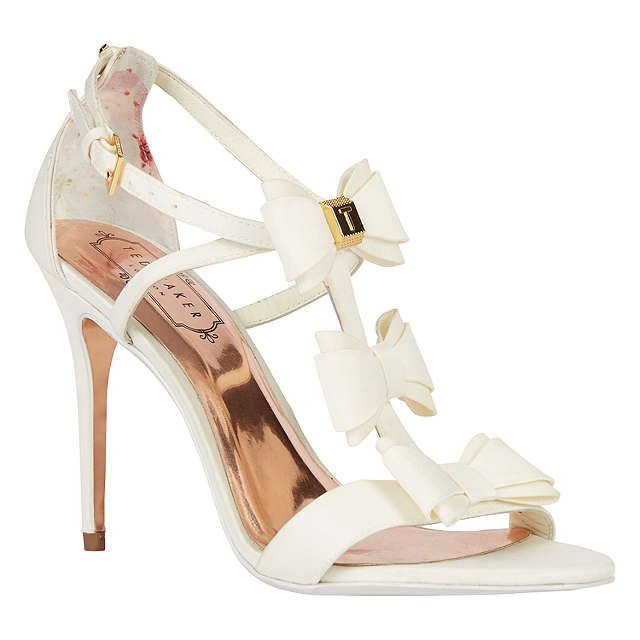 BuyTed Baker Tie the Knot Appolini Bow Stiletto Sandals, Cream, 4 Online at johnlewis.com #WedWithTed @tedbaker