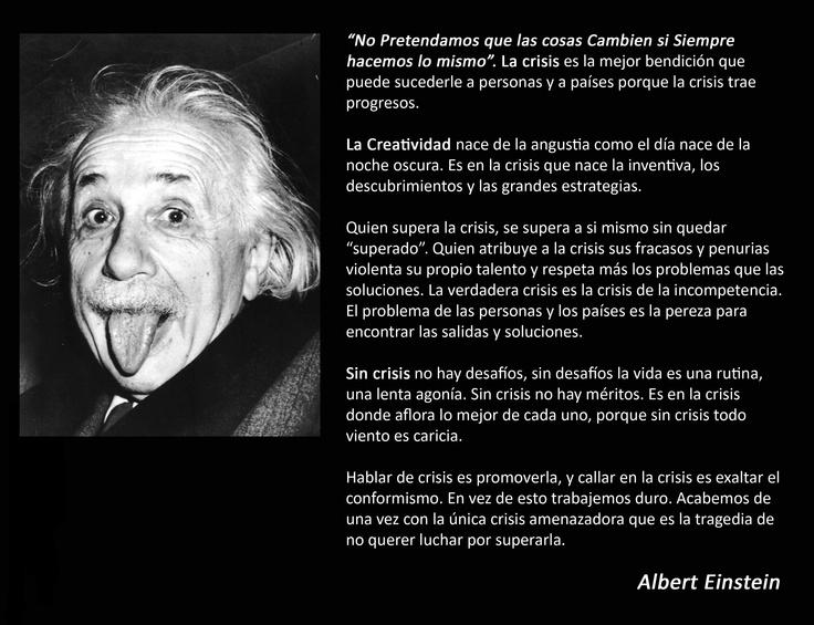 la Crisis... según Albert Einstein
