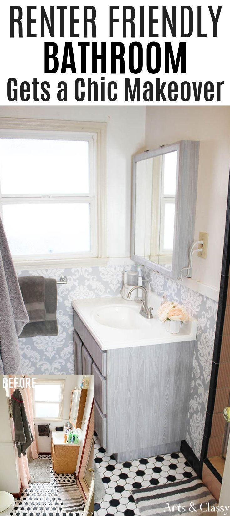 Rental Apartment Bathroom Makeover