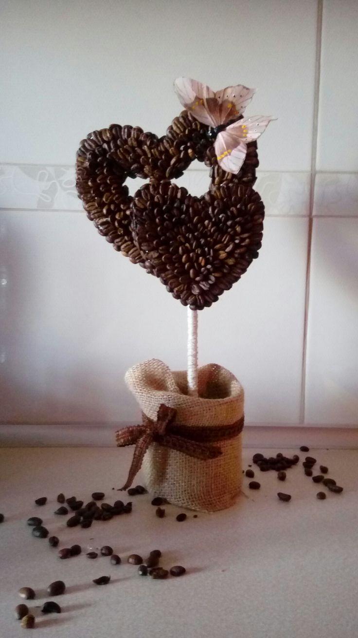 Drzewko kawowe serca motyl