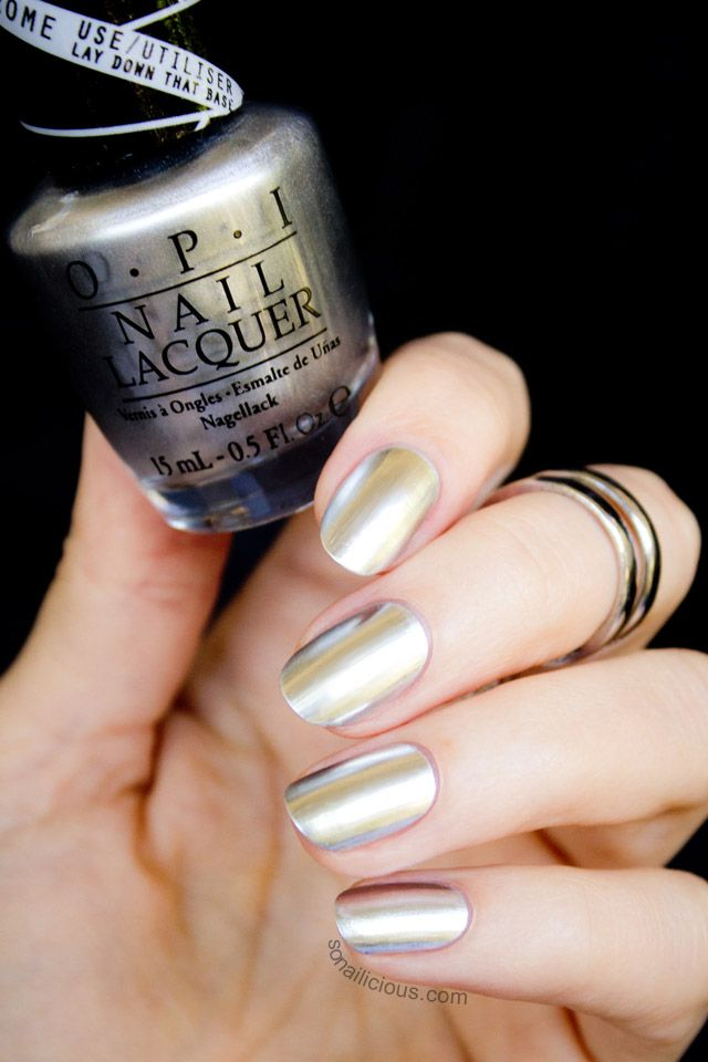 OPI Push And Shove - Review and Swatches. This stunning silver chrome nail polish is a part of OPI Gwen Stefani collection. Read our review to find out...