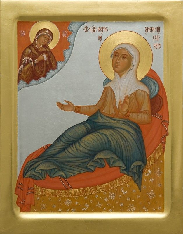 Icon of Saint Matrona of Anemnyasevo - - Hand-Painted Icon from the Workshop of…