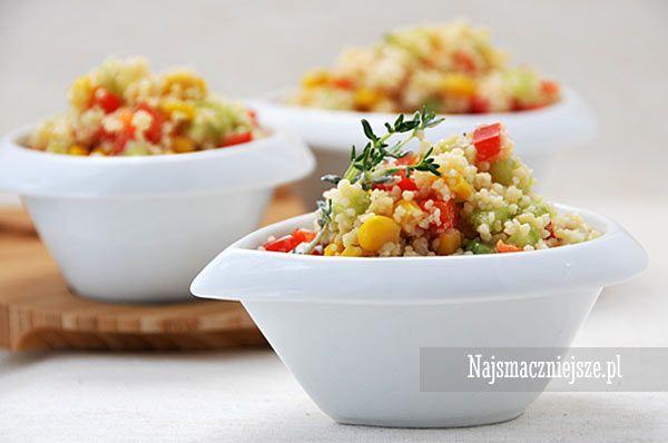 Wiosenna sałatka z kuskus, Sałatka z kaszą kuskus, Sałatka z warzywami, najsmaczniejsze.pl #food