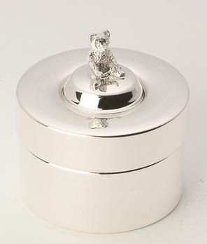 Hallmarked Sterling Silver First Curl Tooth Trinket Box - Bear | Distinctly Silver | £99.99