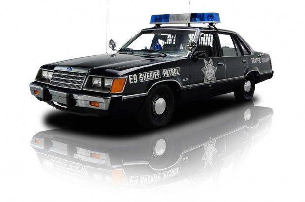 1984 Ford LTD 5.0 Police Car. The first patrol I drove as a rookie.