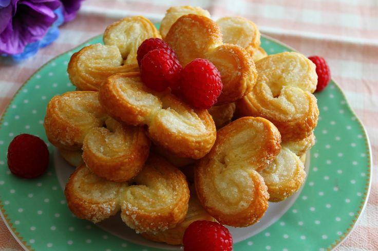 Biscotti, ricetta con due ingredienti - Ventaglietti di sfoglia