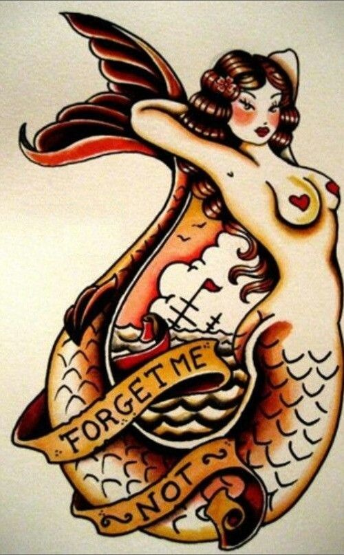 Mermaid tattoo by Sailor Jerry